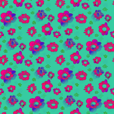 she loves_sea_shells graphic repeat fabric by aer_raa on Spoonflower - custom fabric
