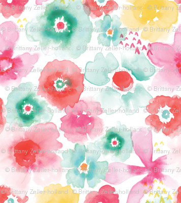 Bright and Lively Watercolor Flowers