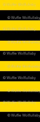 Stripes - Horizontal - 1 inch (2.54cm) - Yellow  (#FFD900) & Black (#000000)