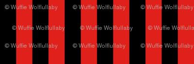 Stripes - Vertical - 1 inch (2.54cm) - Black (#000000) & Red (#E0201B)