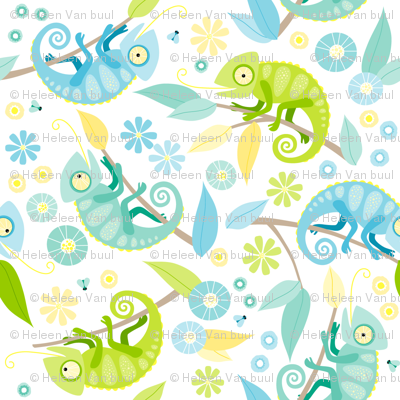 Ditsy chameleon