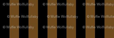 Stripes - Vertical - 1 inch (2.54cm) - Brown (#F9EA62) & Black