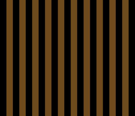 Stripes - Vertical - 1 inch (2.54cm) - Brown (#F9EA62) & Black fabric by elsielevelsup on Spoonflower - custom fabric