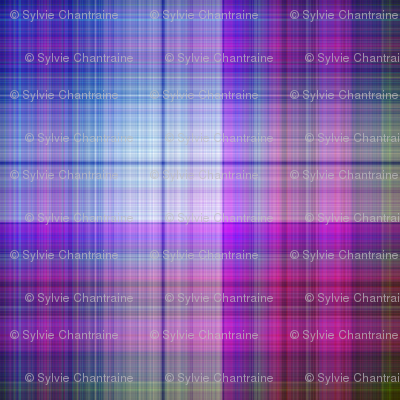 WATERCOLOR PUMPKINS PLAID BLUE PURPLE HARMONY