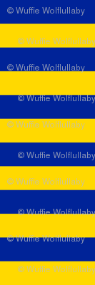 Stripes - Horizontal - 1 inch (2.54cm) - Yellow (FFD900) & Dark Blue (002398)