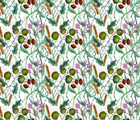 Nature fabric by linsart on Spoonflower - custom fabric