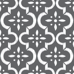 Charcoal Ikat Moroccan Flower