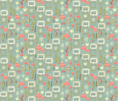 Jolly holiday | sage fabric by skbird on Spoonflower - custom fabric