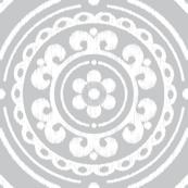 Light Gray Medallion