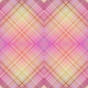 WATERCOLOR PUMPKINS Diagonal Plaid Pink Salmon Harmony
