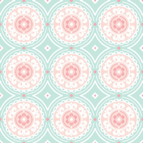Mint and Pink Medallion