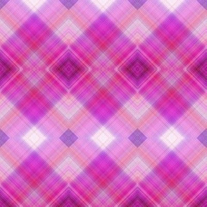 WATERCOLOR PUMPKINS Diagonal Plaid Pink Harmony