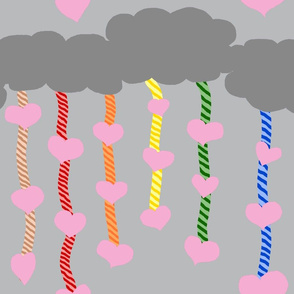 Raining Love Hearts