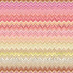 WATERCOLOR PUMPKINS CHEVRONS ZIG ZAG Pink Salmon Harmony