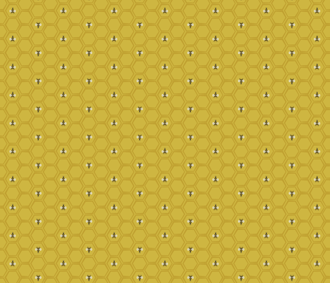 Bees and Honeycomb fabric by jessgrady on Spoonflower - custom fabric