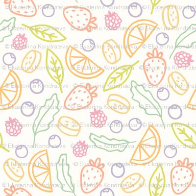 Tasty fruits pattern