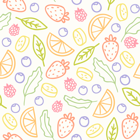 Tasty fruits pattern fabric by kondratya on Spoonflower - custom fabric