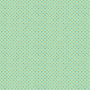 Mint and Gold Glam Dots