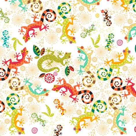 Dizzy Lizards fabric by creativetaylor on Spoonflower - custom fabric