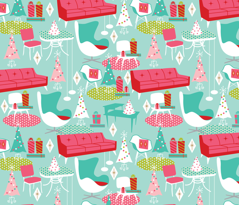 Home for the Holidays fabric by cynthiafrenette on Spoonflower - custom fabric