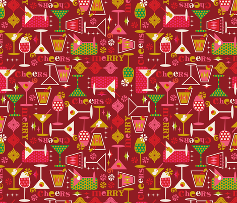 Cheers! fabric by cynthiafrenette on Spoonflower - custom fabric