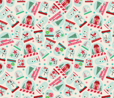 Snowglobes fabric by cynthiafrenette on Spoonflower - custom fabric