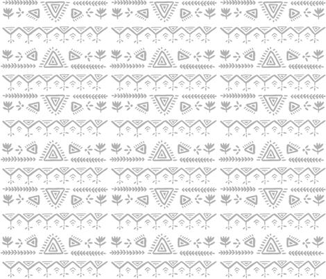 Bohemian Gray fabric by ellolovey on Spoonflower - custom fabric