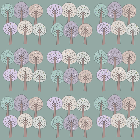 Storybook Trees fabric by sarahmichelle on Spoonflower - custom fabric