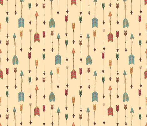 Bohemian arrows fabric by bluelela on Spoonflower - custom fabric