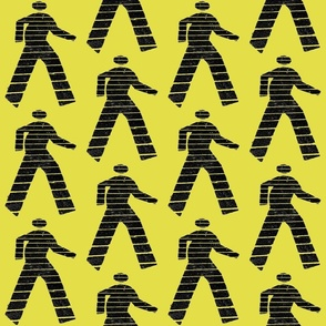 Walk man yellow