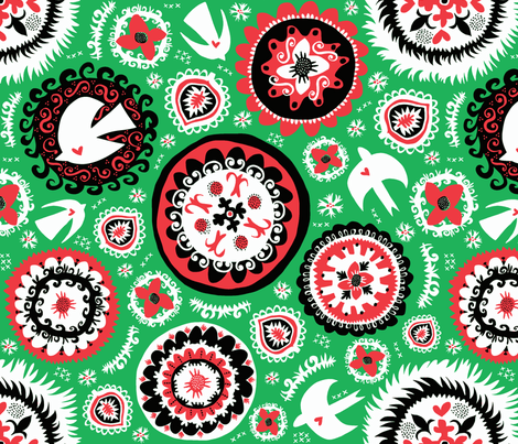 Suzani - holiday fabric by pattyryboltdesigns on Spoonflower - custom fabric