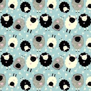 Itsy Bitsy Ditsy Sheep (blue)