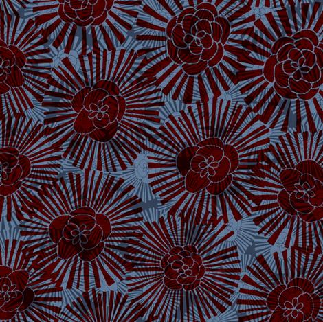 F1035_FlowerPower_Dark fabric by elizabethhalpern on Spoonflower - custom fabric
