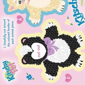 KitschyPet Kitschy Kitty Meets Spunky Skunky Plush Toys and Book