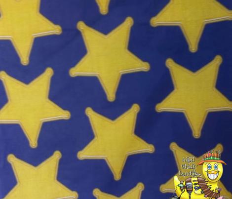 Blue Police Badge Star