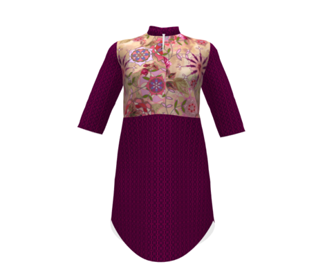 floral fantasy - plum