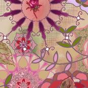 floral fantasy - plum
