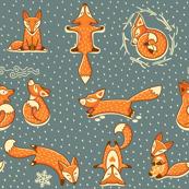 x-mas foxes