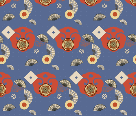 fans fabric by isabella_asratyan on Spoonflower - custom fabric
