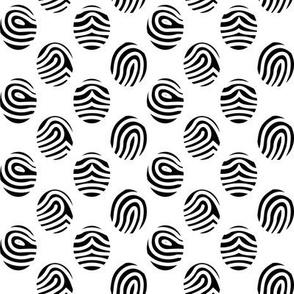 Fingerprints - Black on White