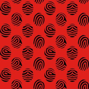 Bloody Fingerprints - Black on Red