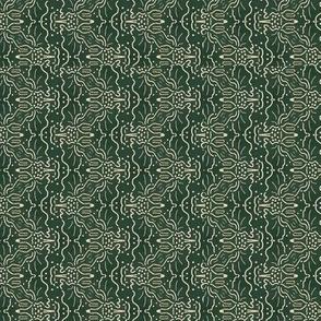 Cream & Green Squigglies