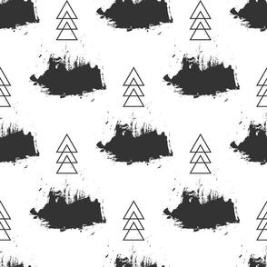 Seamless grunge pattern. Brush strokes texture