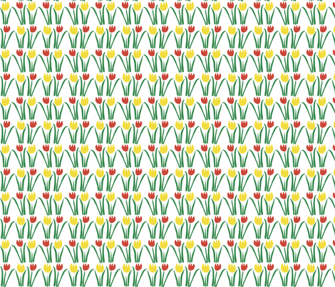 Floriade Tulips_city fabric by colour_angel_by_kv on Spoonflower - custom fabric