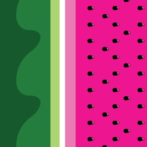 Watermelon Border Print - Double Stacked