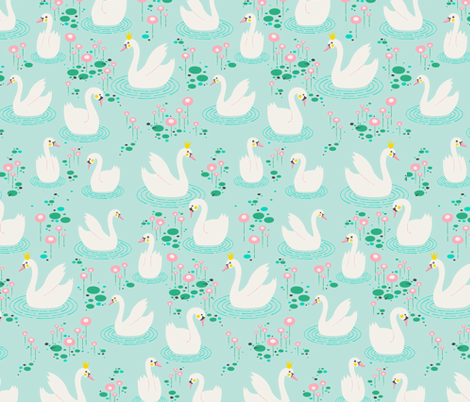 Swan Lake fabric by zesti on Spoonflower - custom fabric
