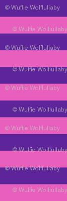 Stripes - Horizontal - 1 inch (2.54cm) - Pink (E95FBE) & Purple (5E259B)