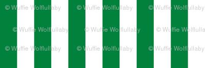 Stripes - Vertical - 1 inch (2.54cm) - Green (#00813C) & White (#FFFFFF)