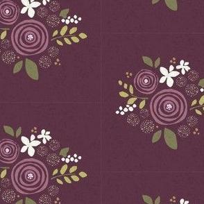 Plum floral