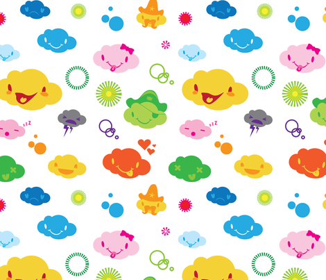 Little Clouds fabric by joshvh on Spoonflower - custom fabric